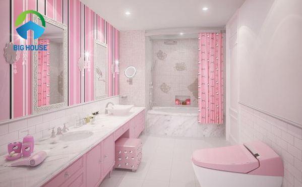 bồn cầu màu hồng đẹp