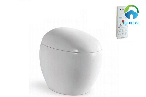 bồn cầu trứng Viglacera V96 thiết kế nhỏ gọn, xinh xắn