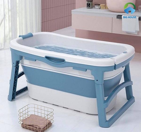 Bồn tắm cho trẻ gấp gọn giúp di chuyển dễ dàng và tiết kiệm diện tích không gian