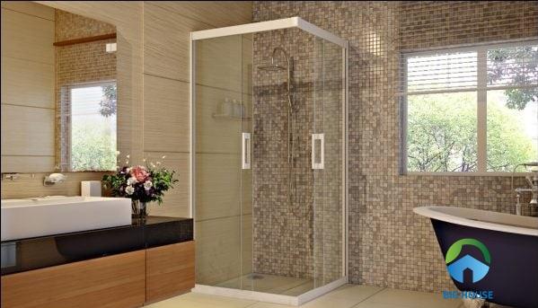 bồn tắm vách kính 800x800 sở hữu nhiều ưu điểm nổi bật