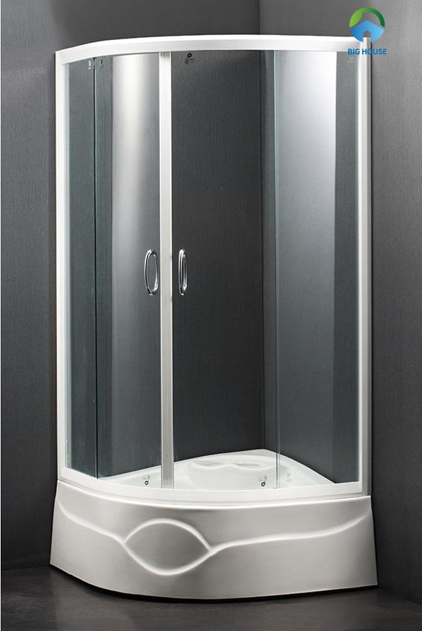 Bồn tắm Caesar SPR01 với vách kính hiện đại, trong suốt