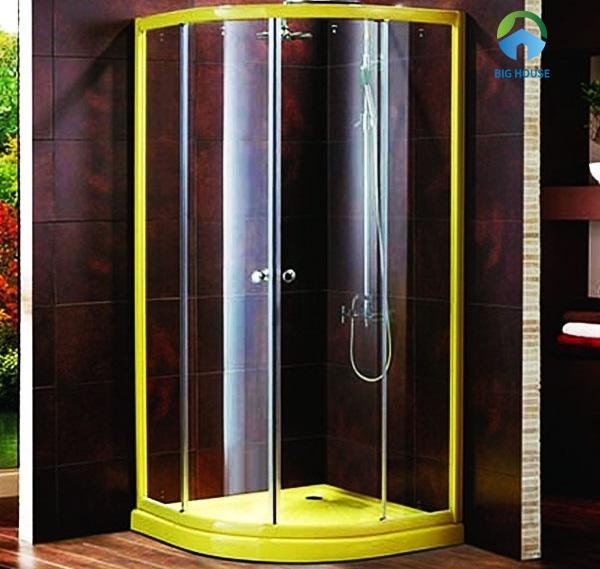 bồn tắm đứng govern 900x900 YKL-PA90 vách kính với viền vàng nổi bật