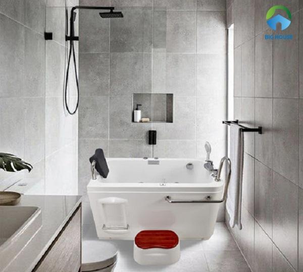 bồn tắm loại nhỏ Govern JS1105 tích hợp chức năng massage đem đến cảm giác thoải mái khi sử dụng