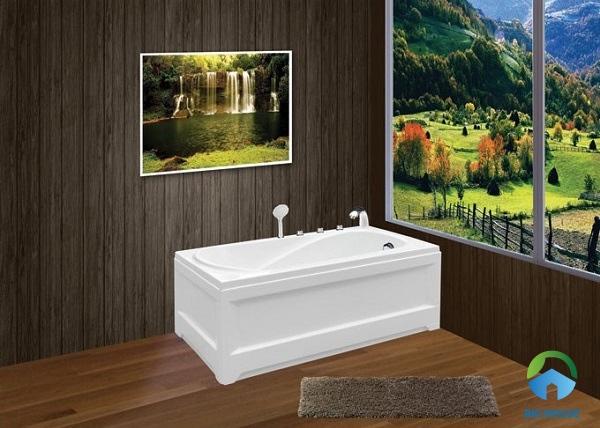 bồn tắm 1m4 euroca EU1-1475 thiết kế sang trọng, tích hợp nhiều tính năng hiện đại