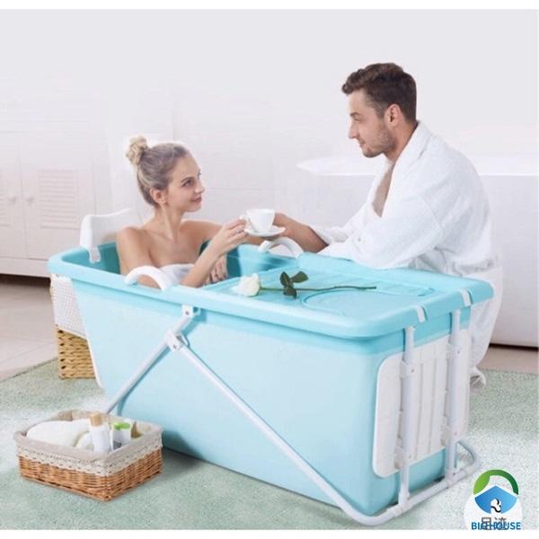 Mẫu bồn tắm gấp gọn có thiết kế đơn giản và tiện lợi