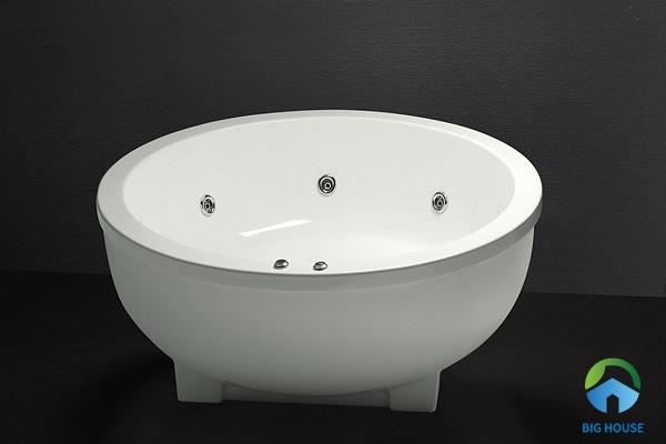 bồn tắm tròn Caesar MT6470 làm từ chất liệu nhựa Acrylic cao cấp, đảm bảo chất lượng